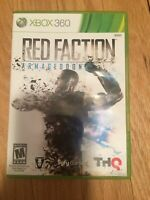 RED FACTION ARMAGEDDON - XBOX 360 - COMPLETE W/MANUAL - FREE S/H (T)