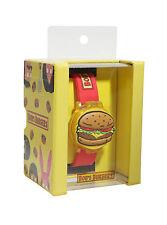 Bob's Burgers Flip Top Digital Hamburger Burger Wrist Watch Rubber Wristband NEW