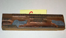antique Vintage PRINTING PLATE *Armstrong Rubber Export * copper on Wood