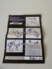 TRANSFORMERS G2 FIREBALL/SIZZLE INSTRUCTIONS, European 1993