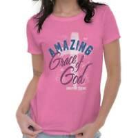 Amazing Grace of God Christian Jesus Christ Religious Gift Womens Tee T Shirts