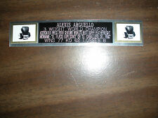 ALEXIS ARGUELLO (BOXING) NAMEPLATE FOR SIGNED GLOVES/TRUNKS/PHOTO DISPLAY