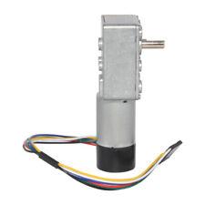 Worm Gear Motor With Encoder Dual Channel 12v 3200rpm High Torque Reducer