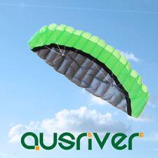 Waterproof 2.5M Dual Line Surfing Kite Power Kite Parafoil Kite Flying x 1 Green