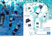 PUBLICITE ADVERTISING 056  2004   Nivea  For Men shampooing  soin douche ( 2p) a