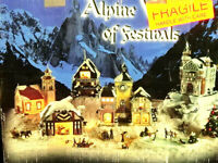 """Christmas High Quality Porcelain """"ALPINE VILLAGE OF FESTIVALS"""" In mint Condition"""
