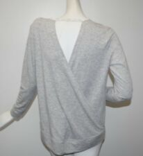 NEW Victoria's Secret Fine French Terry Sweatshirt Light Grey Open Back  TOP S
