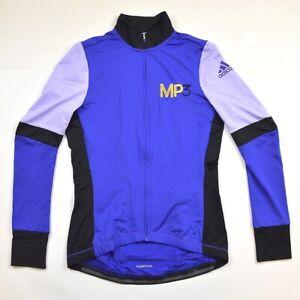 Adidas Cycling Ladies Bicycle Jacket Wheel Jersey Long Winter Blue/Lilac / Black
