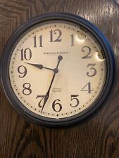 """sterling & noble wall clock  Antique Face And trim MINT 9.75"""" Quiet"""