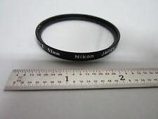 MICROSCOPE PART NIKON SOFT 2 52 mm FILTER ?? LENS OPTICS BIN#F6-18