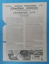 More details for charlton athletic v leicester city 1945 - 1946 programme (football league south)