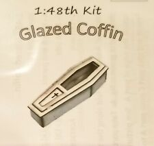Dollhouse Miniature Glazed Coffin Kit -- 1:48 / Quarter Scale / O Scale