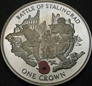 GIBRALTAR 1 Crown 2004 Proof - Battle of Stalingrad - 3854 ¤