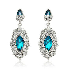 Exquisite Drop Crystal Diamante Wedding bridal cocktail Women Lady Dress Earring