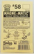 HO Scale Kadee #58 Scale Metal Couplers Medium Centerset (2pr)