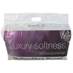 (Single, 12.0 Tog) - Linens Limited Polycotton Hollowfibre Non-Allergenic