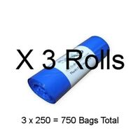 750 Dog Poop Bags on 3 Rolls 3/4mil Thick Biodegradable & Compostable Waste Bag