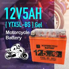 YTX5L-BS 12V 5AH Gel Motorcycle Battery Dirt Bike ATV Quad Scooter Gokart Mower