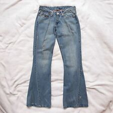 True Religon 25x32 Distressed Flared Blue Jeans