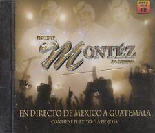 Grupo Montez De Durango En Directo De Mexico A Guatemala CD New Nuevo Sealed