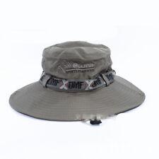 Summer Sun Hat Wide brim Boonie Hat Men's Bucket Hat Breathable Net Mesh Hat Cap