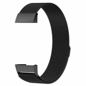 Stainless Steel Magnet Mesh Wristband For Fitbit Charge 3 4 Strap Milanese Bands
