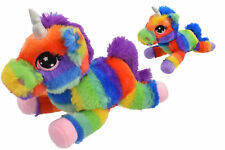 NEW 30cm RAINBOW UNICORN PLUSH SOFT TOY - KIDS BEDROOM CUTE PLUSH TEDDY FUN GIFT