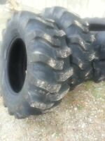 TWO New 17.5Lx24 R4 Tubeless 6 Ply Titan Kubota,  John Deere Farm Tractor Tires