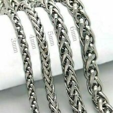 Fashion Men's Punk Stainless Steel Chain Wristband Clasp Cuff Bangle Bracelet AS
