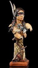 Indian Figure Bust - Indian with Tomahawk - Western Deco