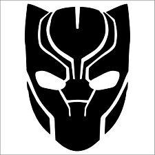 "Black Panther Mask Vinyl Decal Sticker 4"" Marvel Avenger Car Bumper Wall NEW"
