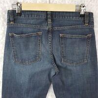 J Crew Denim Stretch Jeans Women's Size 27S Boot Cut 28 X 28 Petite Dark Wash
