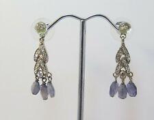 Handmade Earring, Amethyst Crystal Bridal Earrings Dangle Pin