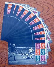 GB Machin 2013 Football Booklet Panes x 10  NEW IRIDESCENT OPT. SALE PRICE FP155
