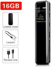 16G Grabadora de Voz Digital Portátil, SUPEREYE HD Grabador Sonido con