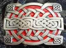 Boucle ceinture Celtique - Rouge - BERGAMOT made in USA 100% etain