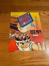 Irem Hammerin' Harry Video Arcade Game Flyer, 1990 NOS