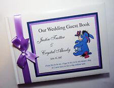 DISNEY EEYORE PERSONALISED WEDDING GUEST BOOK  - ANY DESIGN