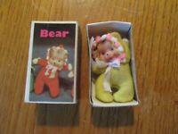 Vintage Baby William Bean Matchbox Bear Doll - Zoo series w/ Box Hong Kong