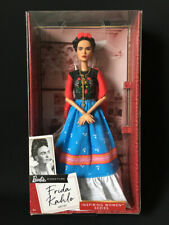 "Mattel Barbie Frida Kahlo Inspiring Women Mexican artist doll in box 12"" unibrow"