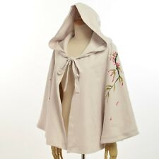 Womens Coat Vintage Cardigan Cape Fashion Cloak Hooded Cape Jacket Cover Up Top