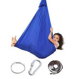 Kids Cotton Outdoor Indoor Swing Hammock for Cuddle Up To Sensory Child Therapy
