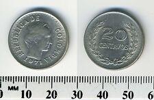 Colombia 1971 - 20 Centavos Nickel Clad Steel Coin - Simon Bolivar