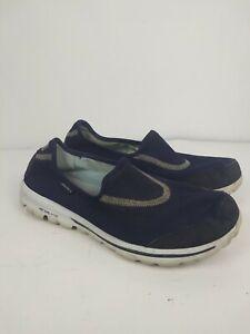 Skechers Go Walk Slip On Walking Shoes Black Resalyte Women's Size 10