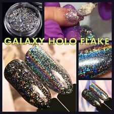 HOLO Galaxy Nail Flake Chrome Powder Unicorn Mirror Holographic Nails Sequins