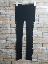 WOMEN'S NUTSHELL RIPPED  LEGGINGS AT SIDES  SIZE S/M