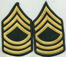 Vietnam Era US Army Master Sergeant Green Stripes Patch Pair