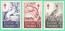 Rabbit Marten Ermine Brown Hare Mammals Wild Animals Finland Mint Mnh Stamps1962
