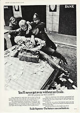 Exide Battery car Product  Advertising Bank Robbery Police arrest 1968