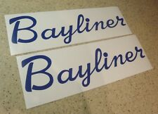 "Bayliner Vintage Boat Decal Blue 12"" Die-Cut 2-PAK FREE SHIP + FREE Fish Decal!"